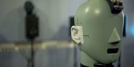 Head and Torso Simulator (HATS) is a mannequin with built-in ear and mouth simulators (Photo: Nicolas Le Goff)