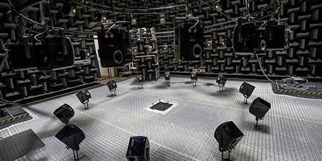 Audio-Visual Immersion Lab at DTU Elektro (Photo: Joachim Rode)