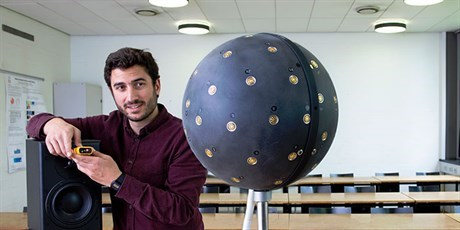 Spherical microphone array (Photo: Torben Nielsen)