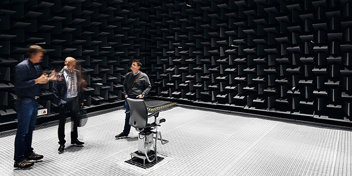 The new anechoic chamber at building 354 (Photo: Stamers Kontor)