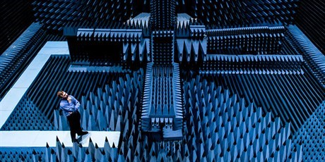 The radio anechoic chamber (Photo: Alastair Philip Wiper)