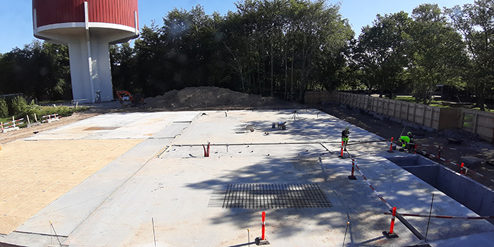 Completed foundation of building 357 for DTU ETC (Photo: DTU Electrical Engineering)