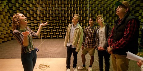 Anechoic chamber at DTU Elektro (Photo: Mikal Schlosser)