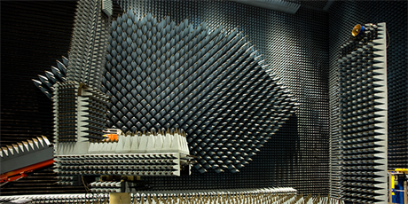 The Radio Anechoic Chamber at DTU Elektro (Photo: Torben Nielsen)