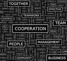 Cooperation word cloud illustration (Illustration: Colourbox)